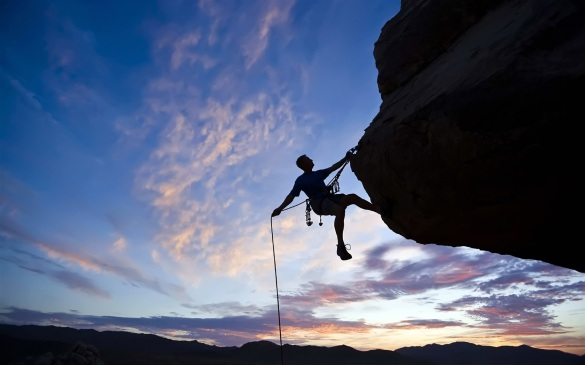Cliff Mountain Climbing Identity Purpose - Inspired Men